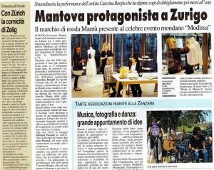 Articolo sulla Live Painting performance Modissa di Caterina Borghi