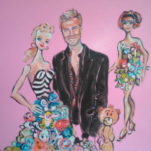 """Ritratto con Barbies"" Painting by Caterina Borghi"