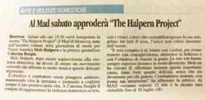 The Halpern Project articolo da Gazzetta di Mantova