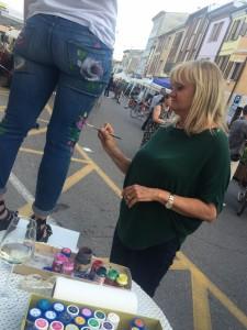 Live Painting di Caterina Borghi a Quistello