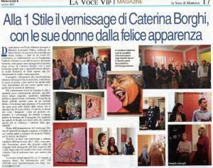 Articolo sulla mostra Fame d'Arte da la Voce di Mantova