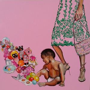 """""""La barchetta di giornale"""" Painting by Caterina Borghi"""