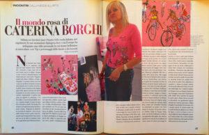"""""""Il Mondo Rosa Di Caterina Borghi"""" articolo dal magazine Style"""