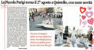 La Piccola Parigi 2017, articolo da Gazzetta di Mantova