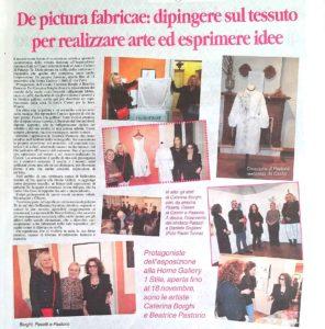"""""""De Picutra Fabricae: dipingere sul tessuto per realizzare arte ed esprimere idee"""" articolo da La Voce di Mantova"""