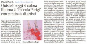 La Piccola Parigi, articolo dalla Gazzetta di Mantova