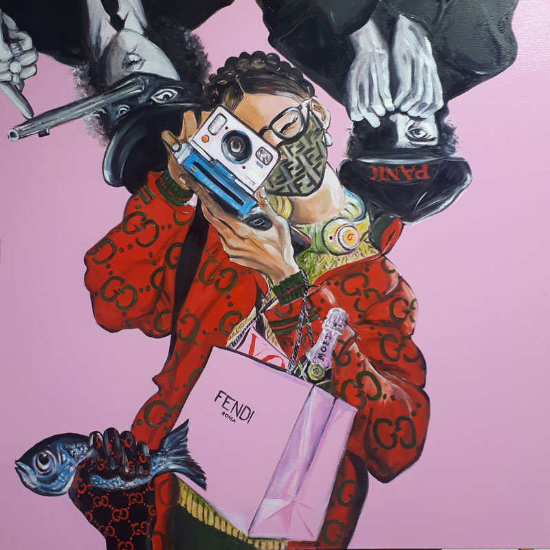 """""""Occhio.. FAKE"""" Painting by Caterina Borghi"""
