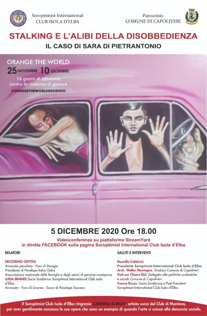 """Serie di Eventi """"I volti della violenza"""". 5 Dicembre 2020."""