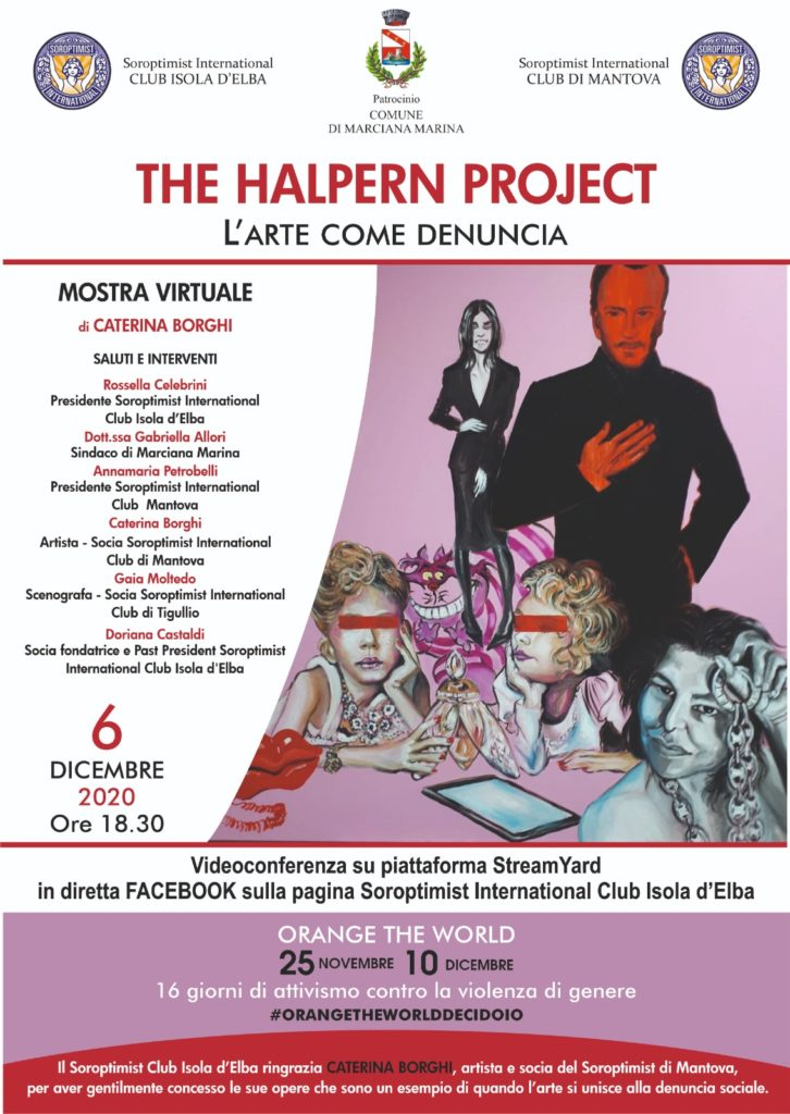 """The Halpern Project"", l'arte come denuncia. Livestream del 6 dicembre 2020 con Caterina Borghi."