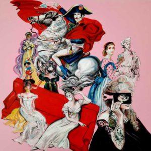 """""""La Contessa di Castiglione ci presenta le donne di Napoleone"""" Painting by Caterina Borghi"""
