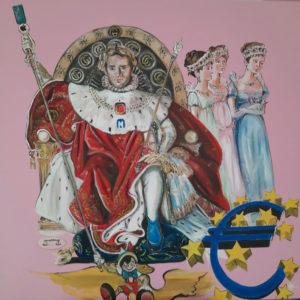 """""""Un selfie sul trono di Gucci all'Elba"""" Painting by Caterina Borghi"""