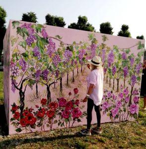 """""""Dimensione Fiabesca del Vigneto"""" Mural Art by Caterina Borghi"""